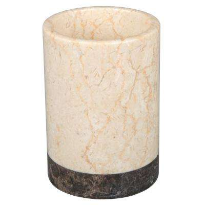 Inverary Banded Natural Marble Tumbler in 2-Tone Color