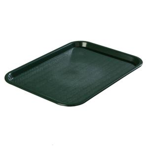 Carlisle 12.06 inch x 16.31 inch Polypropylene Cafeteria/Food Court Serving Tray in Forest Dark Green (Case of 24) by Carlisle