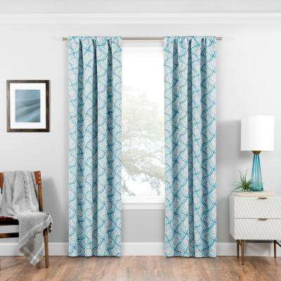 Blackout Benchley 63 in L Charcoal Rod Pocket Curtain