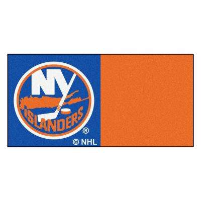 NHL - New York Islanders Blue and Orange Pattern 18 in. x 18 in. Carpet Tile (20 Tiles/Case)