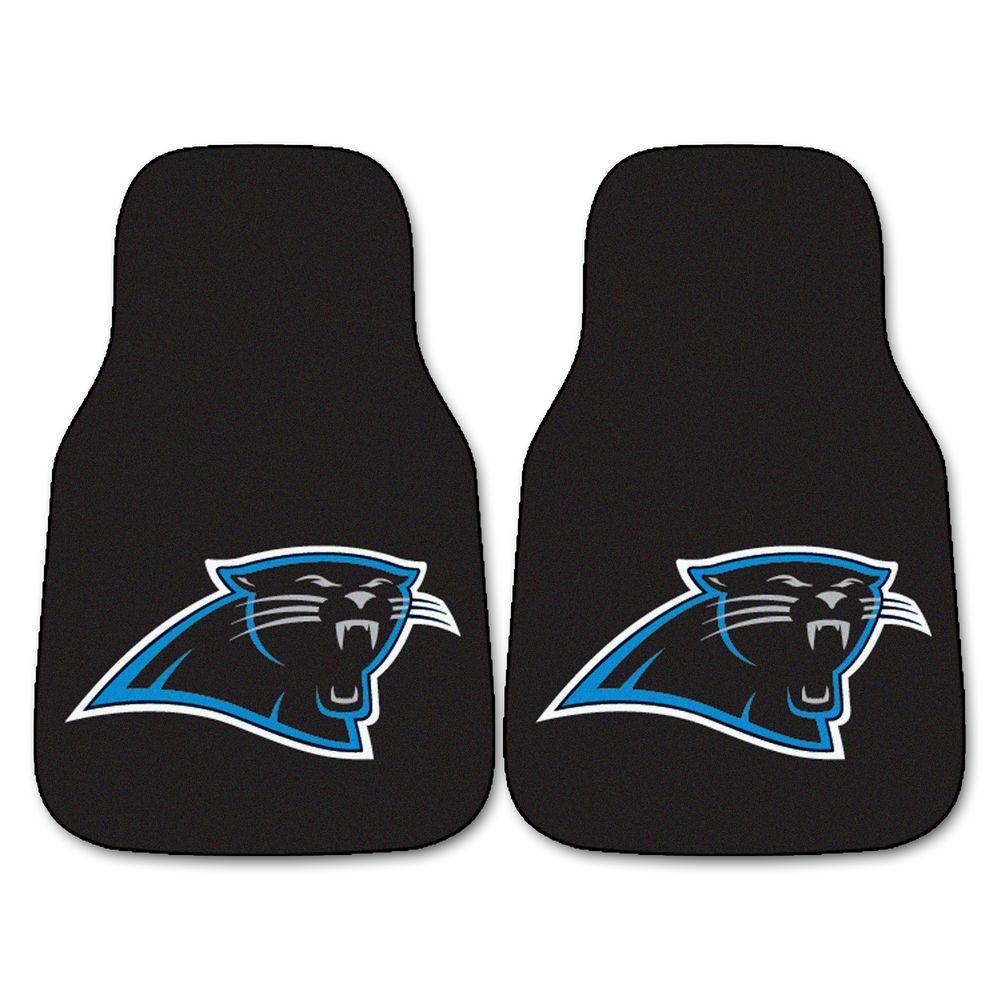 Carolina Panthers 18 in. x 27 in. Carpeted Car Mat Set (2-Piece)
