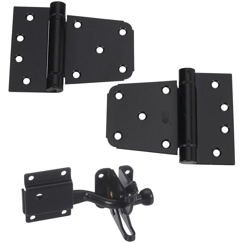 Self-Closing Gate Kit in Black