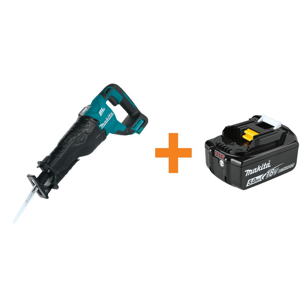 Makita 18-Volt LXT Lithium-Ion Brushless Cordless Recipro Saw, Tool-Only with BONUS 18-Volt LXT Lithium-Ion 5.0 Ah Battery was $328.0 now $189.0 (42.0% off)