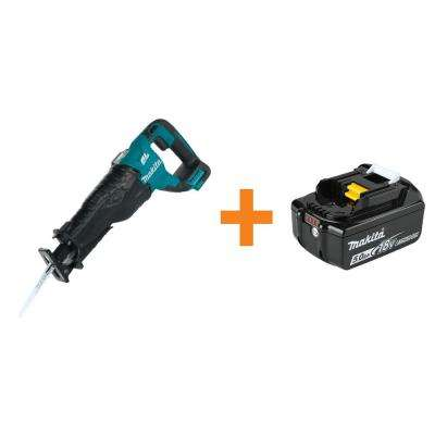 18-Volt LXT Lithium-Ion Brushless Cordless Recipro Saw, Tool-Only with BONUS 18-Volt LXT Lithium-Ion 5.0 Ah Battery