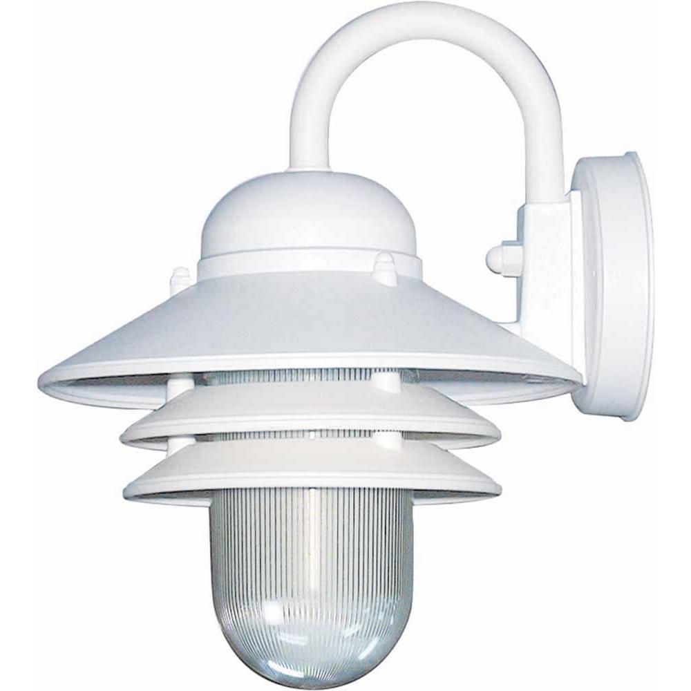 Volume Lighting 1 Light White Polycarbonate Outdoor Nautical Wall Lantern Sconce Mount