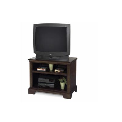 Casual Traditions 36 in. Walnut Wood TV Stand Fits TVs Up to 50 in. with Open Storage