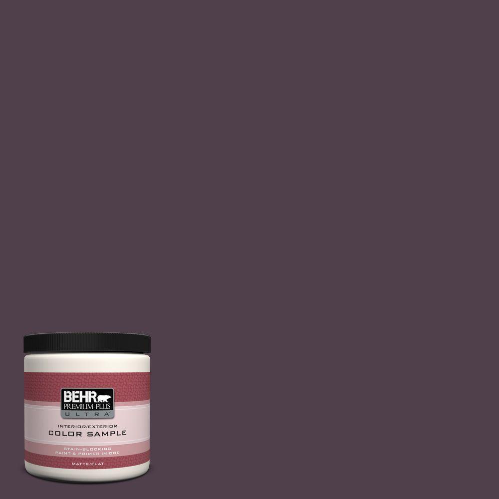 BEHR Premium Plus Ultra 8 oz. #T13-10 Plum Orbit Flat/Matte Interior/Exterior Paint Sample