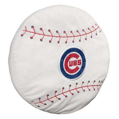 Cubs Multi-Colored Polyester 15 in. 3D Sports Pillow