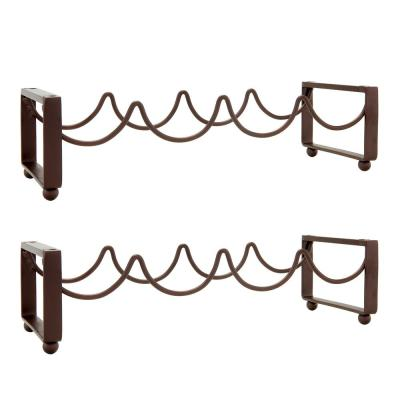4-Bottle Antique Bronze Stackable Wine Rack (Set of 2)