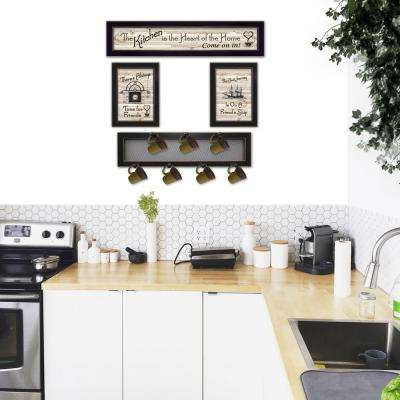 Kitchen Collection VI 4-Piece Vignette with 7-Peg Mug Rack Decorative Sign