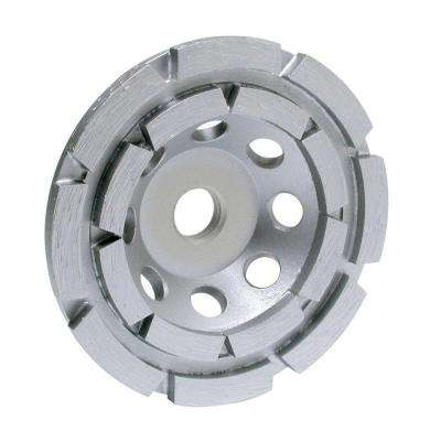 4 in. 2-Row Cup Wheel with 7/8 in. Arbor