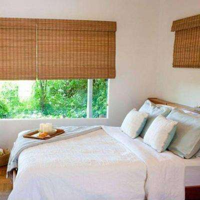 Superieur Budget Horizontal Natural Woven Roman Shade