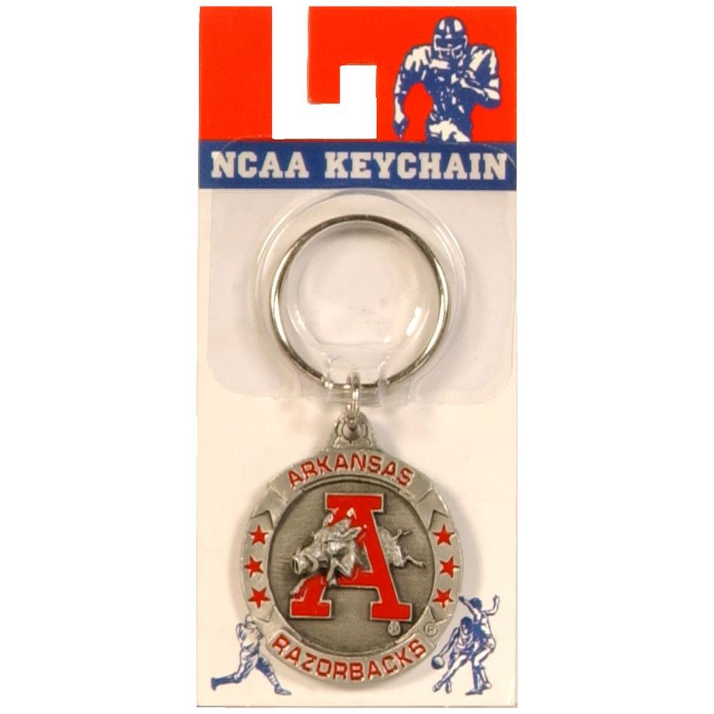 Arkansas Razorbacks College Sports Key Chain