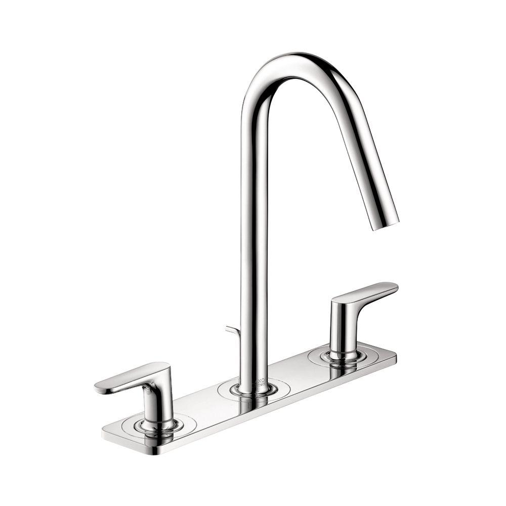 Hansgrohe Citterio M 4 in. Minispread 2-Handle High Arc Bathroom Faucet in Chrome with Baseplate