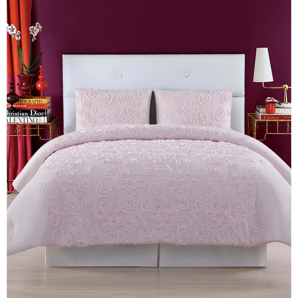 Pretty Petals Pink King Duvet Set