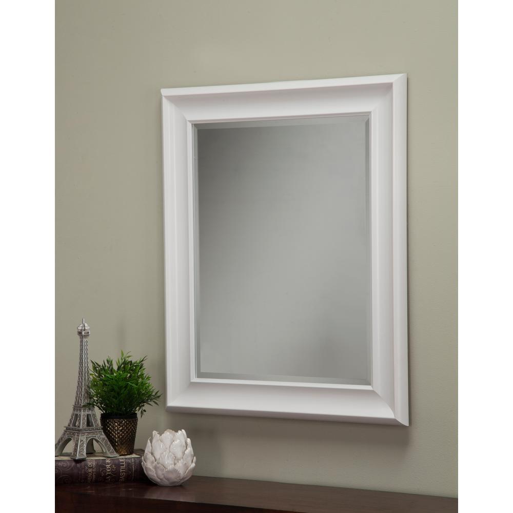 Sandberg furniture white decorative wall mirror 13017 for White decorative mirror