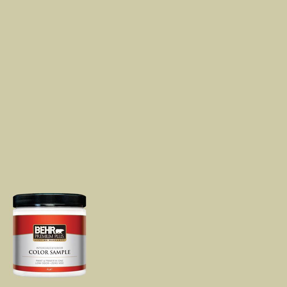 BEHR Premium Plus 8 oz. #ICC-58 Crisp Celery Interior/Exterior Paint Sample