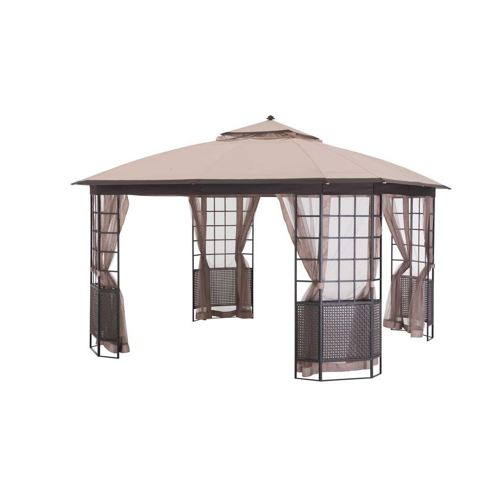 Sunjoy Bay Window 12 Ft X 12 Ft Brown Steel Gazebo. Wave Tile. Round White Coffee Table. Outdoor Tub. Folding Dining Table. Million Dollar Rustic. Farmhouse Writing Desk. Reclaimed Wood Double Vanity. American Olean
