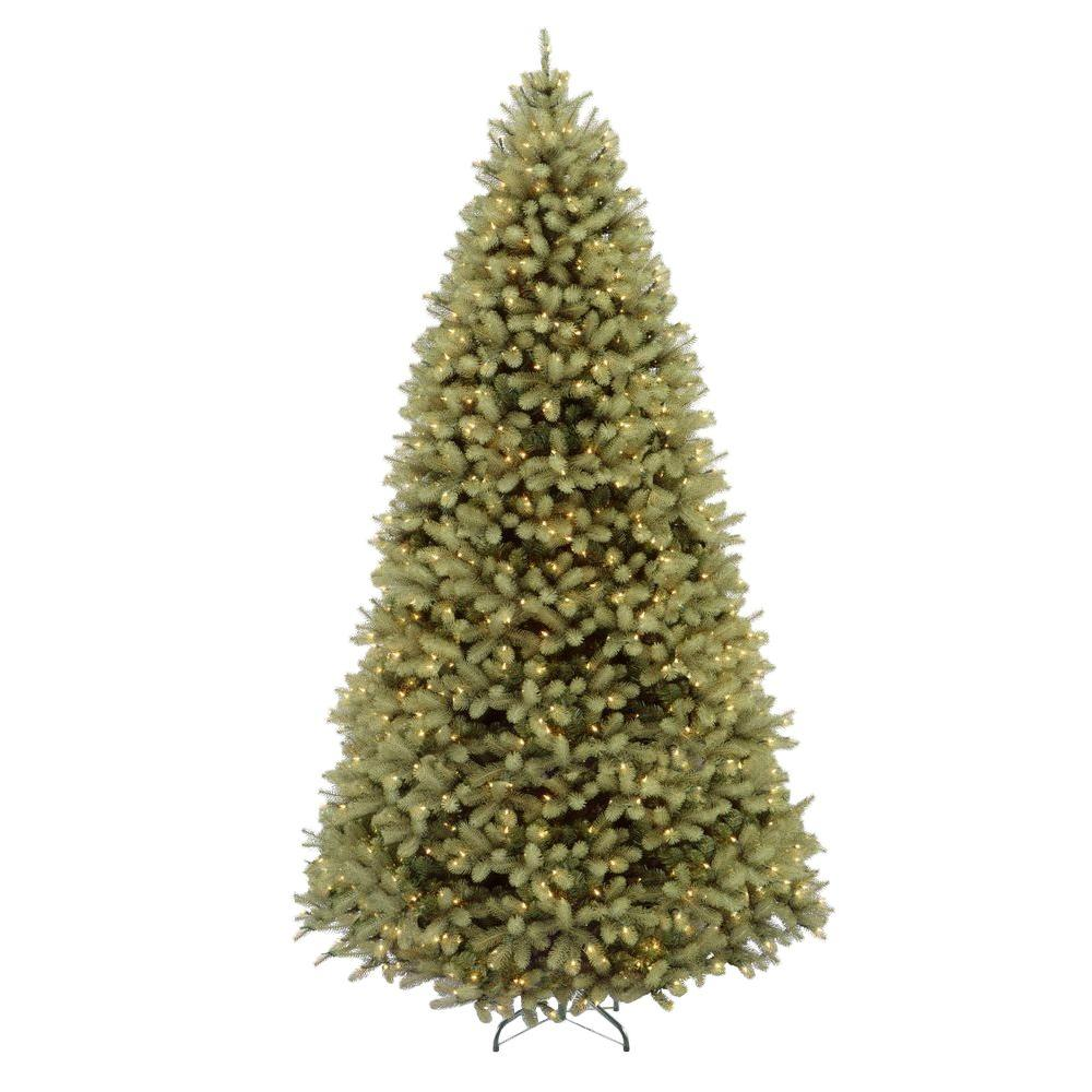 Home Accents Holiday 9 ft. Pre-Lit Downswept Douglas Fir ...