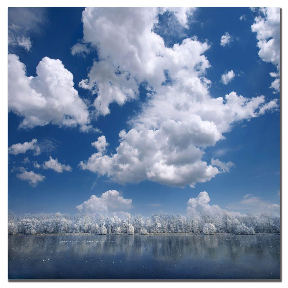 Trademark Fine Art 18 in. x 18 in. Cotton Sky Canvas Art-DISCONTINUED