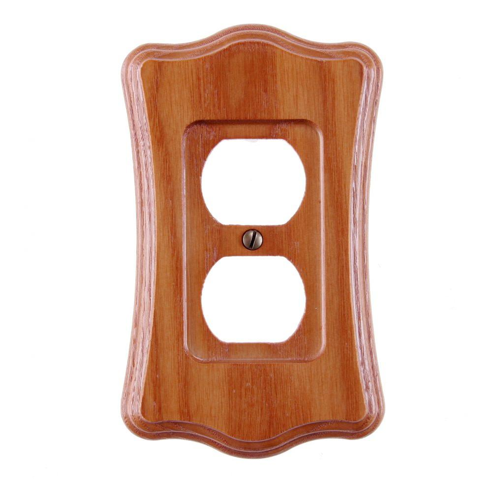 1 Duplex Wall Plate - Tavern Oak