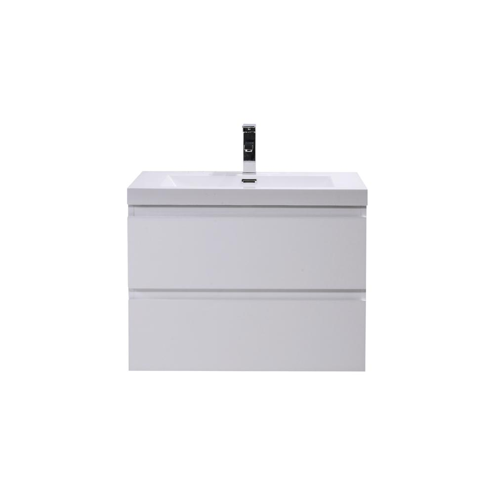 W Bath Vanity In High Gloss White With Reinforced Acrylic Top Basin Mob30 Gw The Home Depot