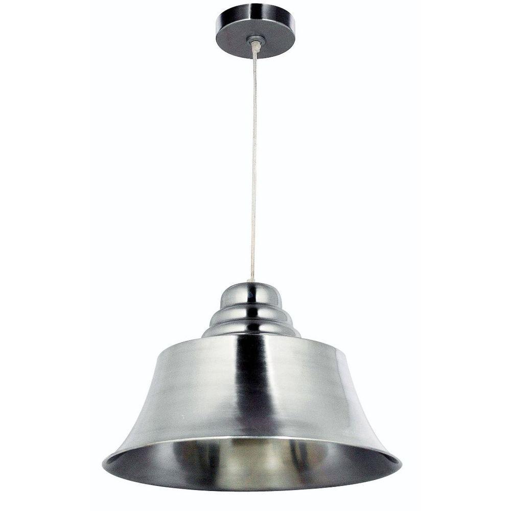 Kenroy Home Spinnaker 1-Light Brushed Steel Pendant