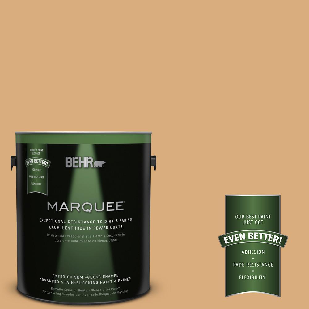 BEHR MARQUEE 1-gal. #PPU6-5 Cork Semi-Gloss Enamel Exterior Paint