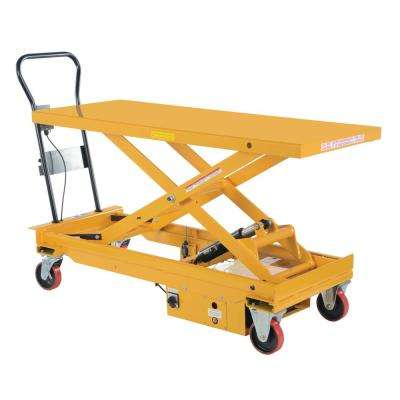 1,000 lb. 60 in. x 24.5 in. Dc Powered Hydraulic Scissor Cart