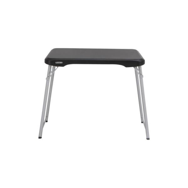 35.5 in. Black Plastic Stackable Folding Personal Table