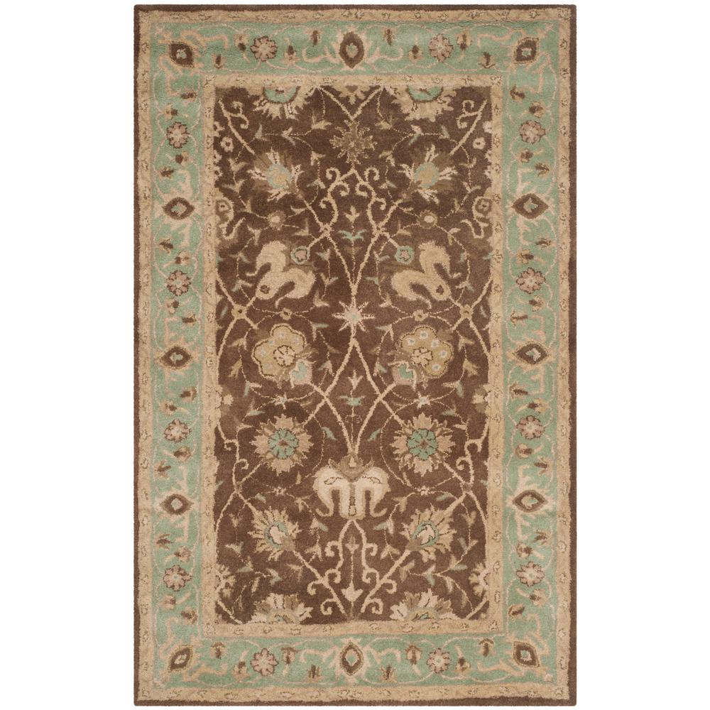 Safavieh Total Performance Brown/Green 6 Ft. X 9 Ft. Area
