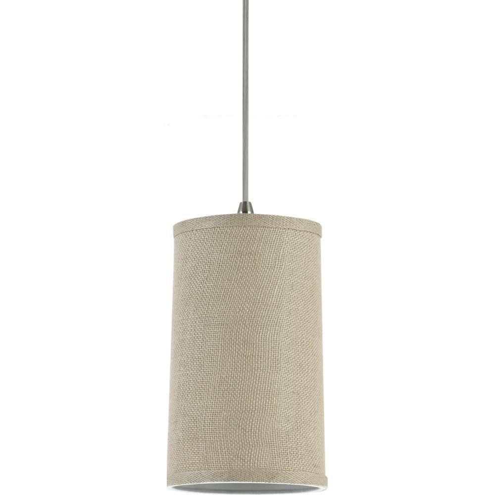 Sea Gull Lighting Jaymes 1 Light Burlap Mini Pendant 94626 994   The Home  Depot