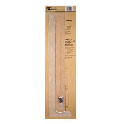 4-5/8 in. x 25-5/8 in. Tempo Kitchen Depth Laminate Endcap Kit in Tumbled Roca