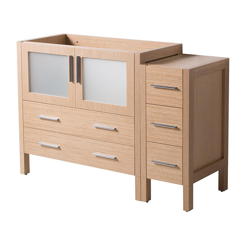 48 in. Torino Modern Bathroom Vanity Cabinet in Light Oak