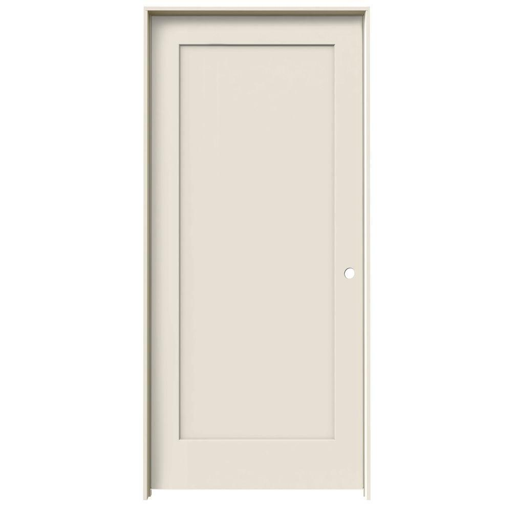 Jeld Wen 36 In X 80 In Madison Primed Left Hand Smooth Molded Composite Mdf Single Prehung Interior Door Jw191200577 The Home Depot