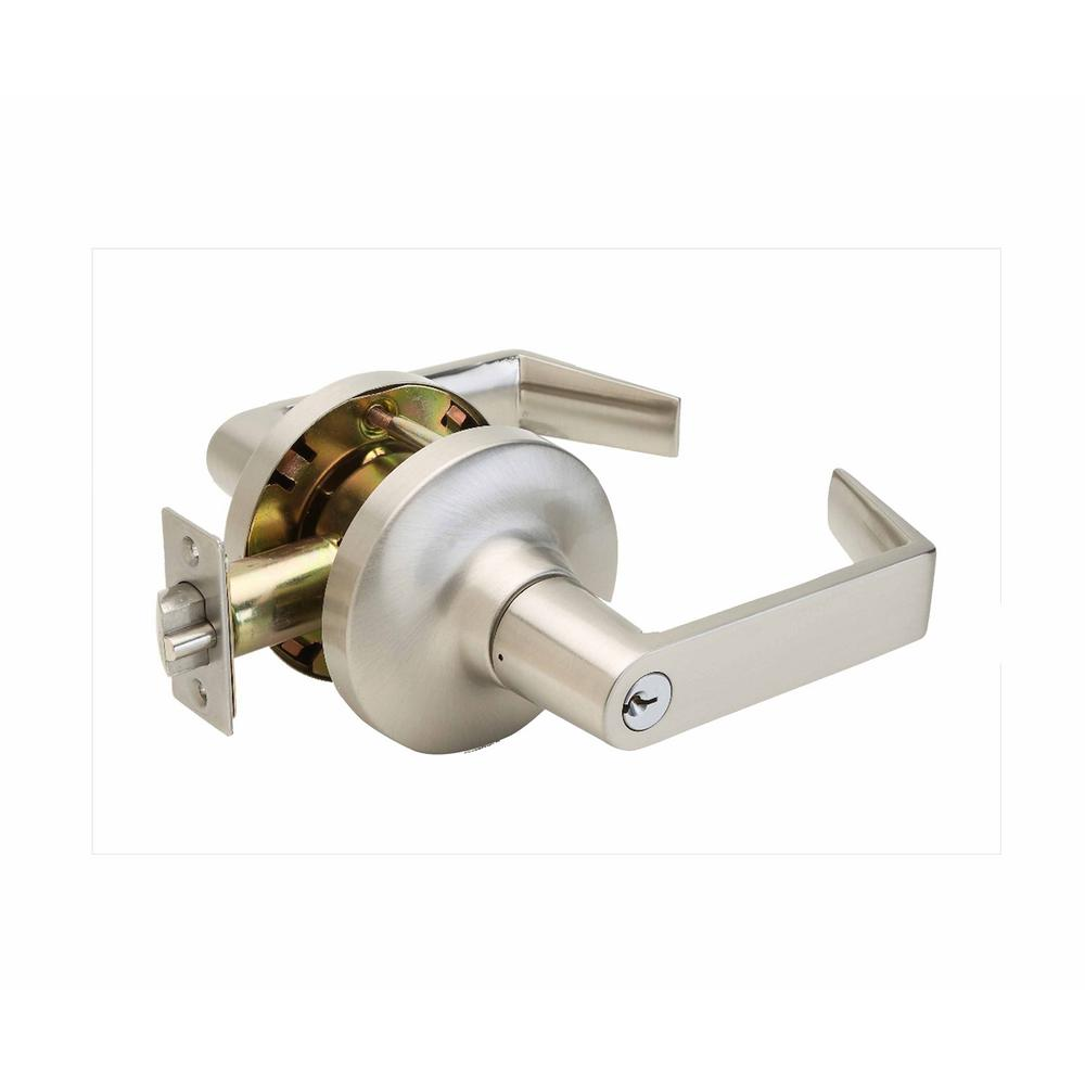 Copper Creek Grade 1 Satin Stainless Cylindrical Classroom Door Lever Al7260ss The Home Depot