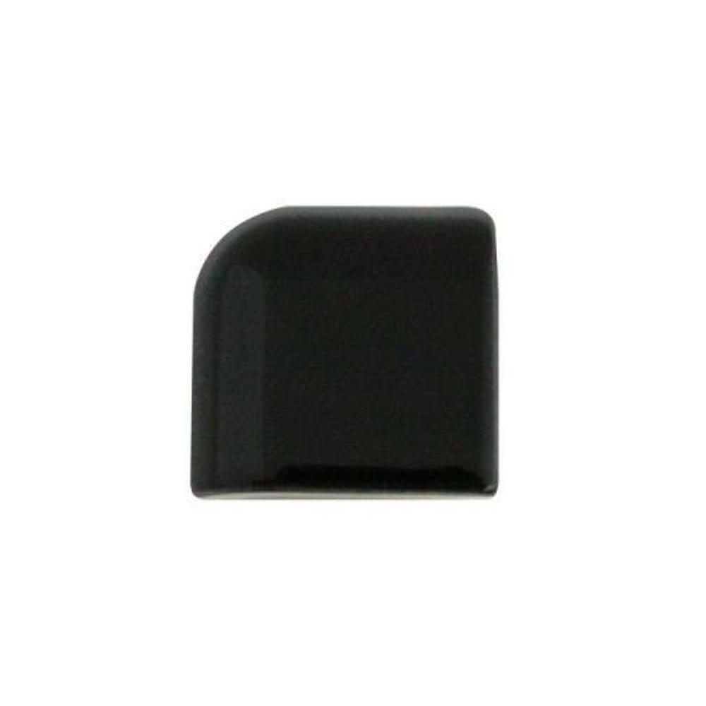 Daltile Semi Gloss 2 In X Black Ceramic Bullnose Corner Wall
