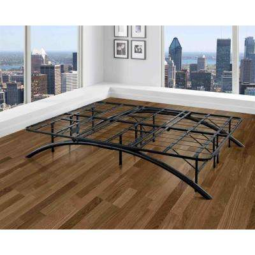 Full-Size Dome Arc Platform Bed Frame in Black