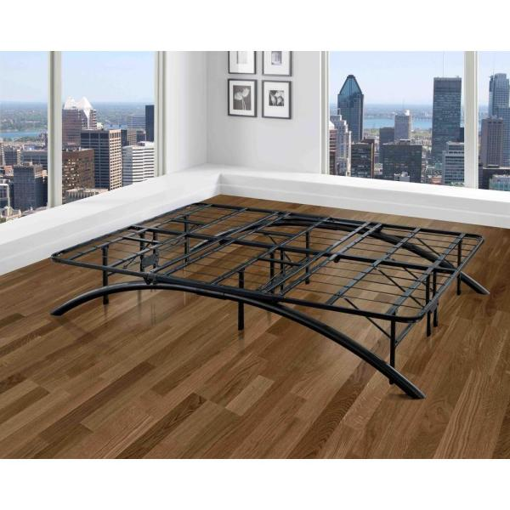 Rest Rite Full-Size Dome Arc Platform Bed Frame in Black MFRRARFRBLDB