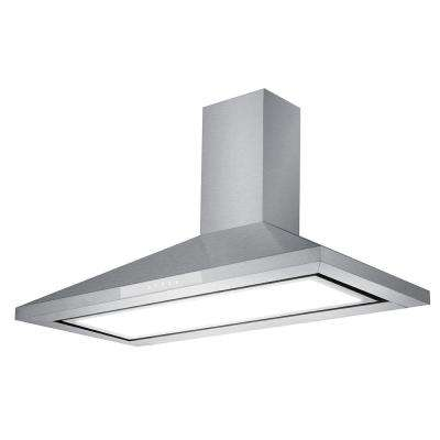 36 in. 600 CFM Convertible Wallmount Range Hood with Light in Stainless Steel