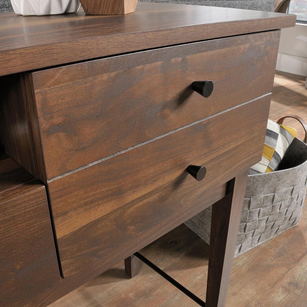 Tremendous Sauder Harvey Park Grand Walnut Sofa Table 420302 The Home Ncnpc Chair Design For Home Ncnpcorg