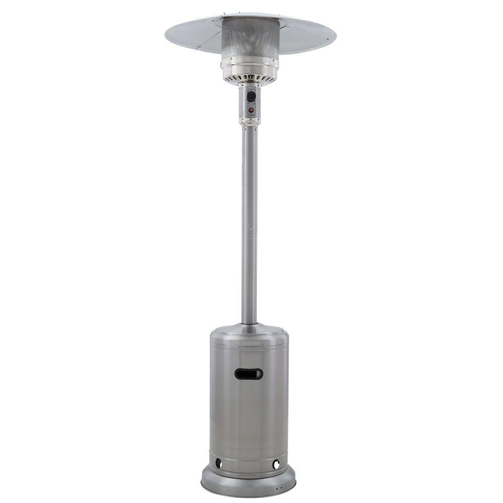 Propane patio heater with table Steel Propane 41000 Btu Stainless Steel Propane Patio Heater The Home Depot Gardensun 41000 Btu Stainless Steel Propane Patio Heaterhssass