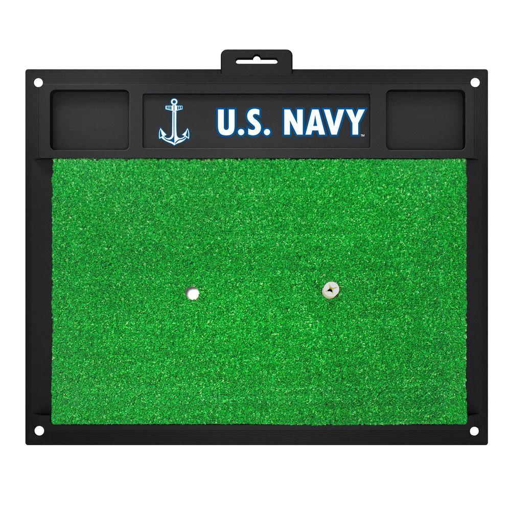 MIL U.S. Navy 17 in. x 20 in. Golf Hitting Mat