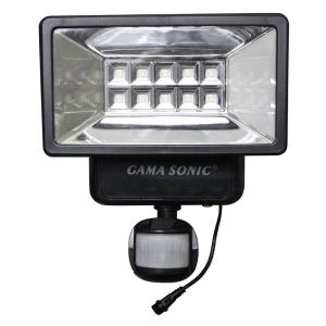 Gama Sonic 160° Black Outdoor Solar Powered Security Light with Motion Sensor by Gama Sonic