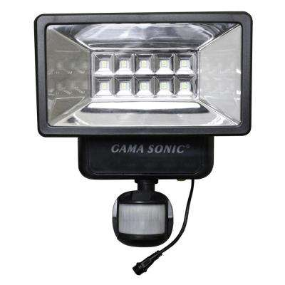160° Black Outdoor Solar Powered Security Light with Motion Sensor