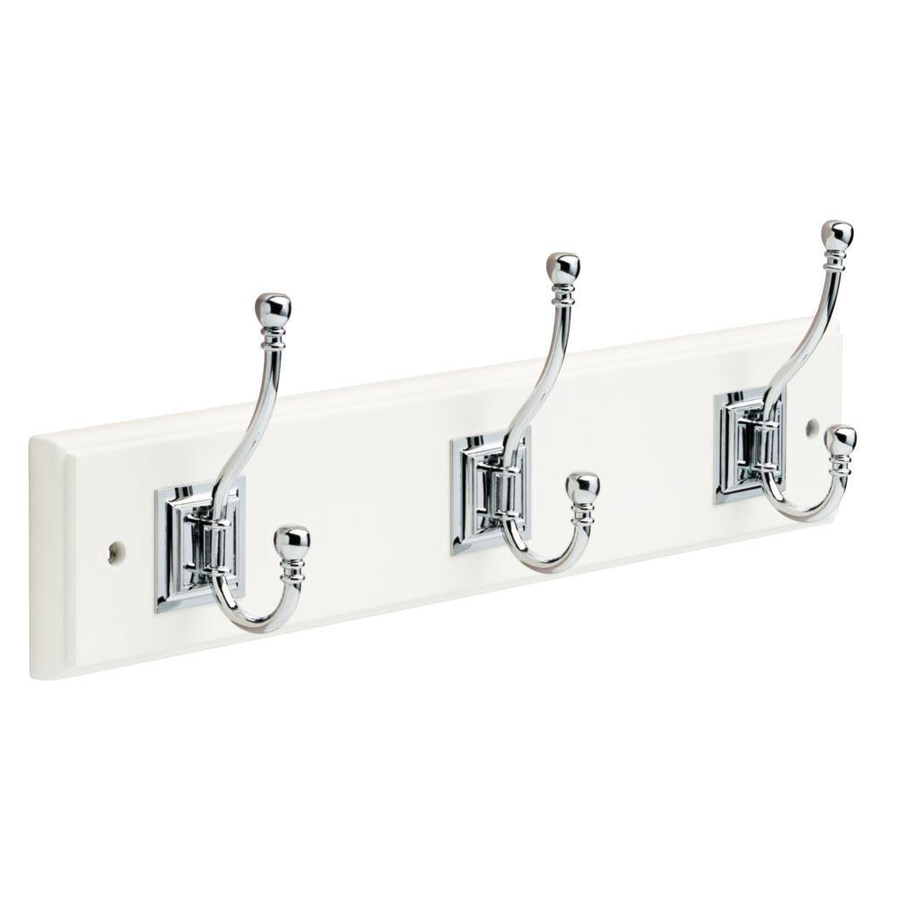 White And Chrome Architectural Hook Rack