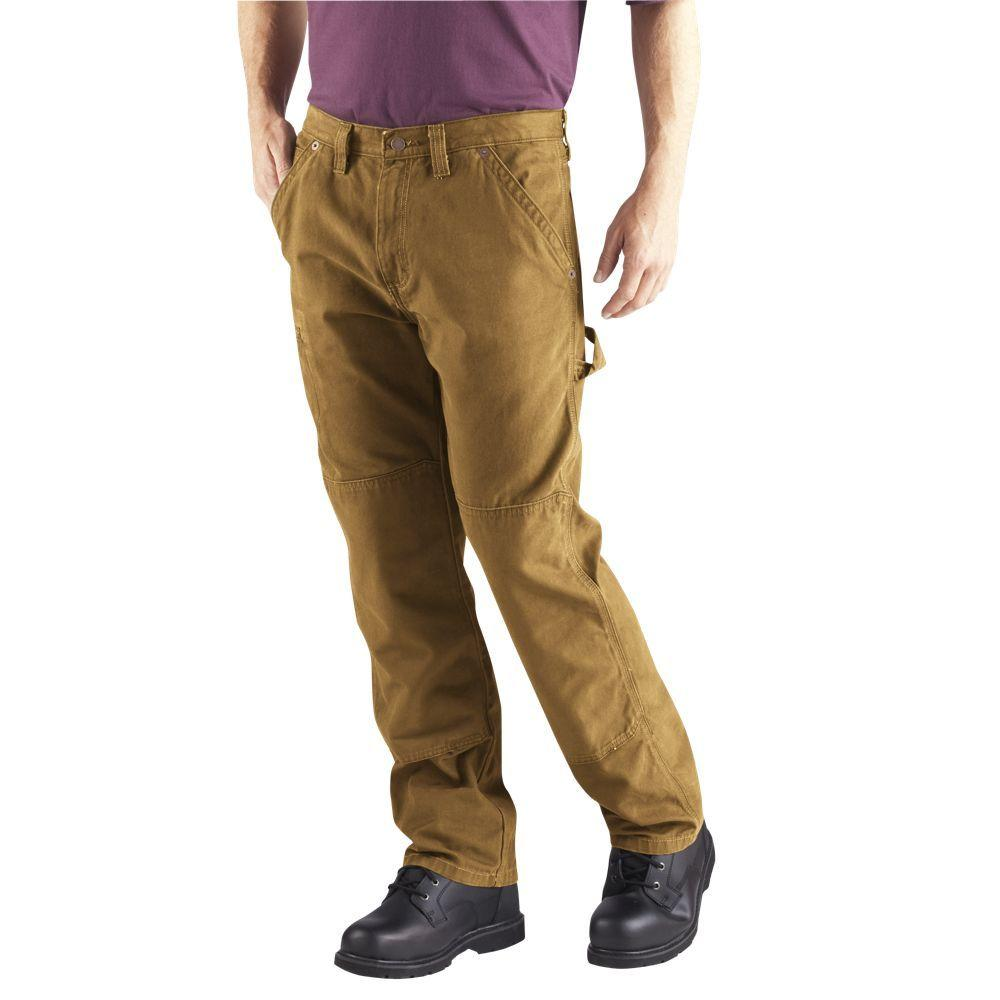 Dickies Relaxed Fit 32 in. x 32 in. Double Knee Carpenter Jean Brown Duck-DISCONTINUED