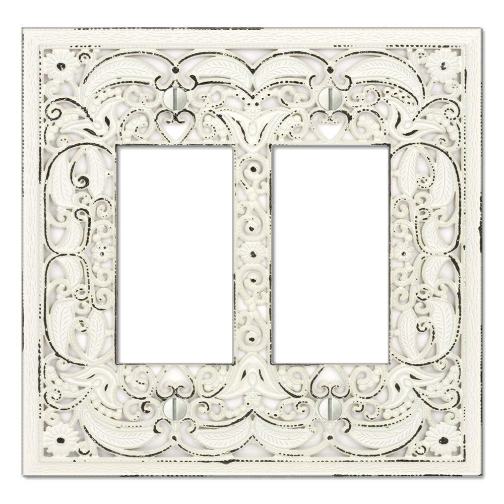 Creative Accents Steel 2 Decora Wall Plate - White