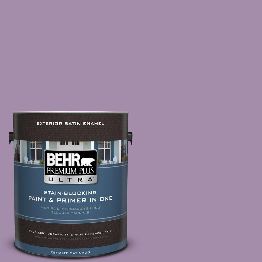 BEHR Premium Plus Ultra 1-gal. #M100-4 Aged to Perfection Satin Enamel Exterior Paint