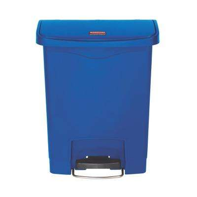 Slim Jim Step-On 8 Gal. Blue Plastic Front Step Trash Can